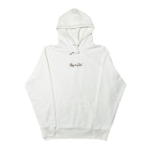 Boy≒Girl Logo Hoodie (Ivory white×Chocolate)