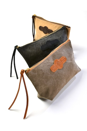 Tannin-dyed pouch (M)