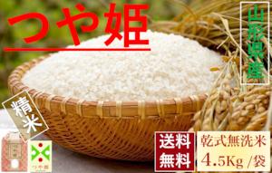 山形県産【つや姫】精米 乾式無洗米 5Kg/袋【送料無料】
