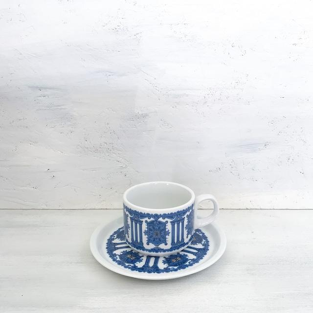 【R-607】ノリタケ 装飾柄レトロカップ&ソーサー