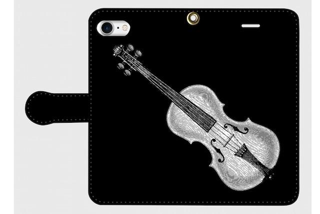 (iPhone用)バイオリンの手帳型スマホケース