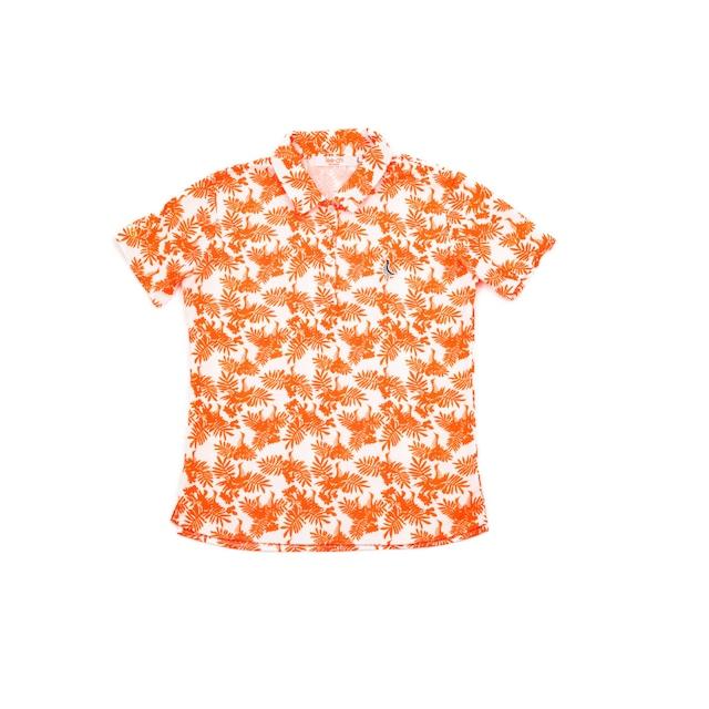 【 LADIES 】サンゴクロス ポロシャツ 【やんばる ティーチくん 】(ORANGE)
