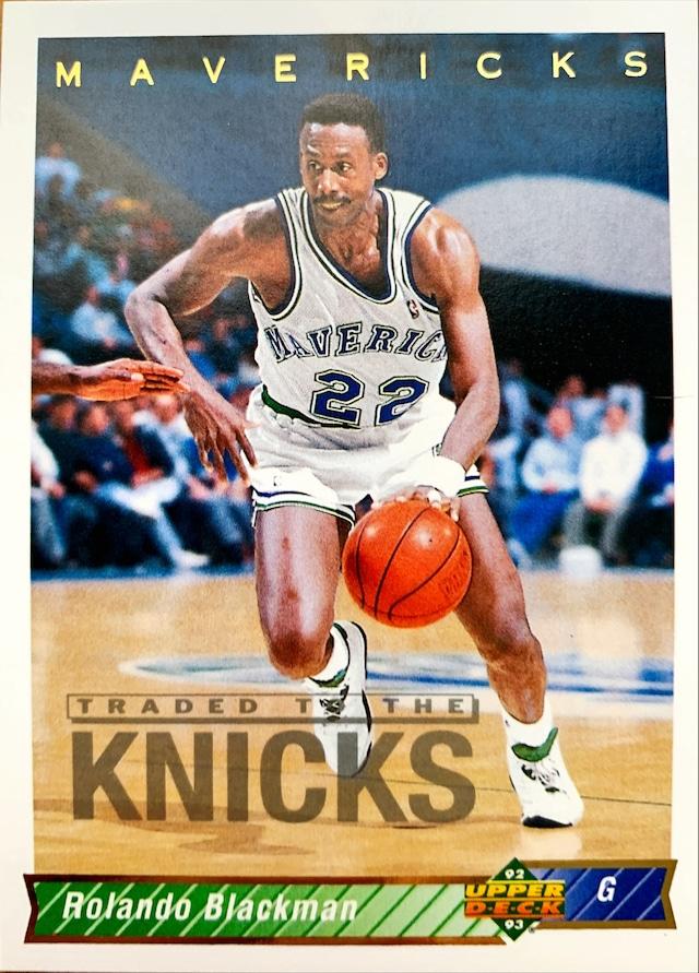 NBAカード 92-93UPPERDECK Rolando Blackman #89 MAVERICKS
