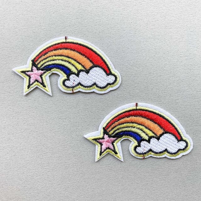 星と虹のワッペン