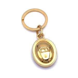 Christian Dior クリスチャン ディオール CD 楕円 キーリング ゴールド vintage ヴィンテージ オールド Accessories 2przes