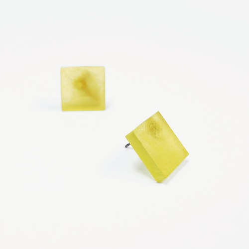 草木染/幾何学片耳用ピアスイヤリング/E-6_S_PD