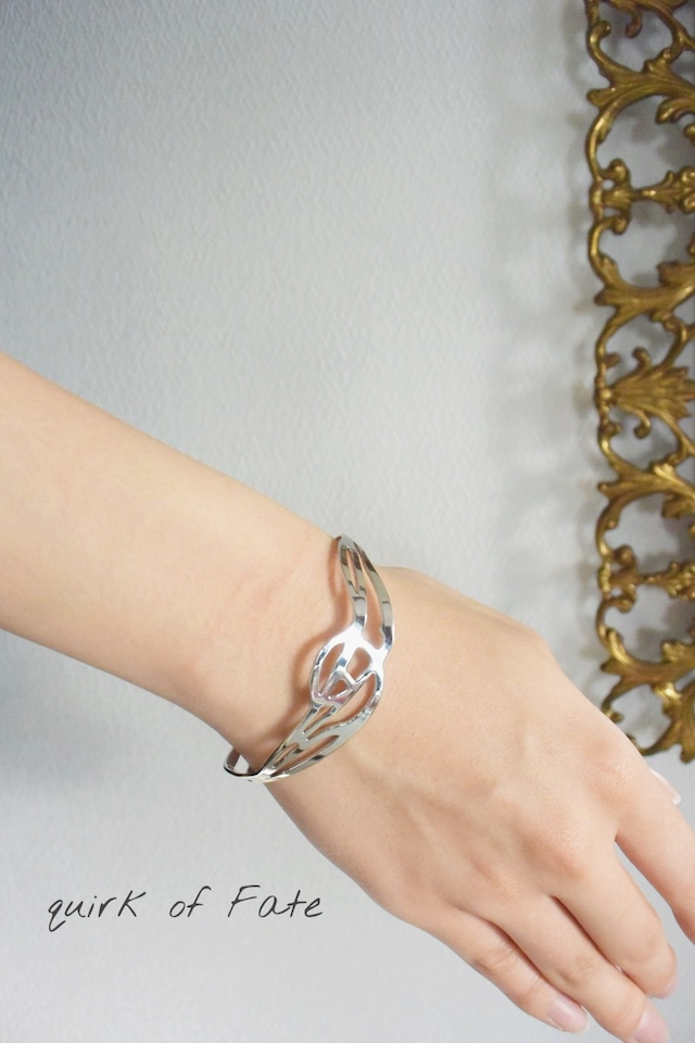 "Arabesque Design Bangle ""middle"" silver アラベスクバングル ミドル シルバー"