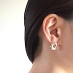 Tube colors pierced earrings 2