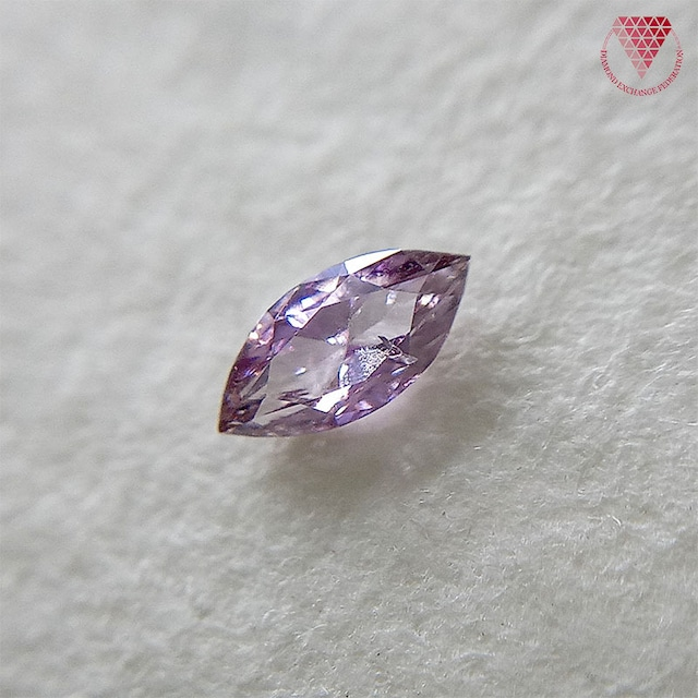 0.055 ct Fancy Intense Purple Pink SI2 CGL 天然 ピンク ダイヤモンド マーキス シェイプ