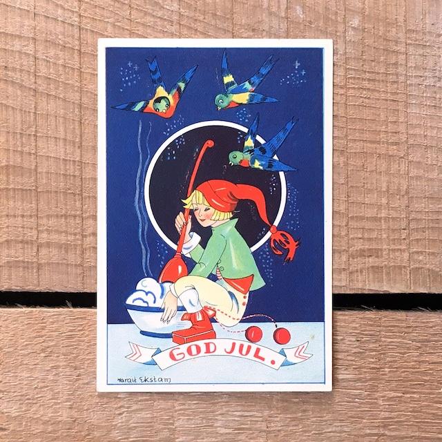ミニ・クリスマスカード「Margit Ekstam(マルギット・エークスタム)」《200324-06》