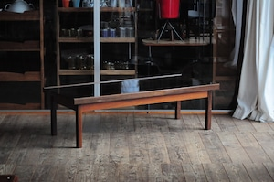 Brazilian Rosewood Coffee Table with Glass Top