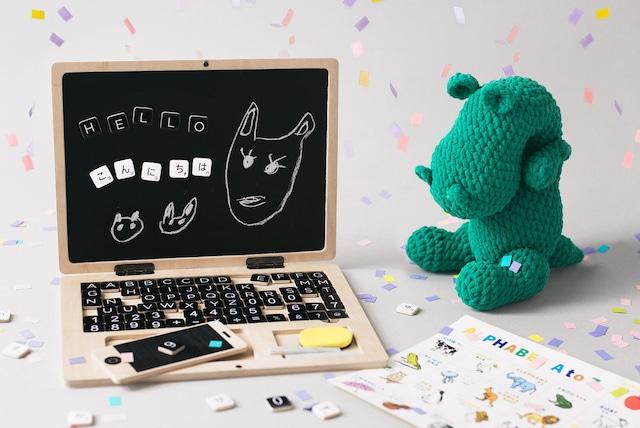 kids PC キッズパソコン お絵描き 黒板 キーボード おもちゃ