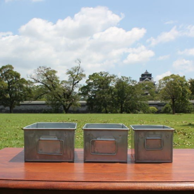 ブリキレクタングル収納BOX L