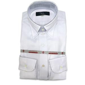 国産タブカラーシャツ ホワイト