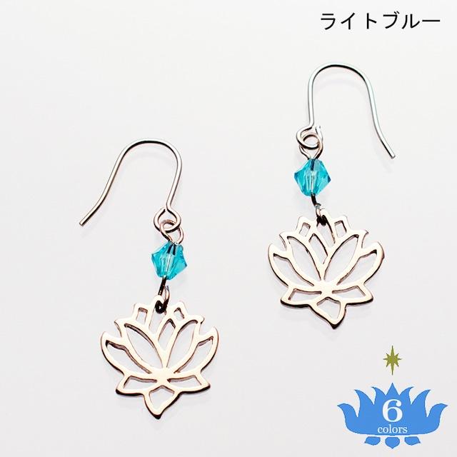 ピアス ミニロータス ビーズつき Pierced Earrings Mini Lotus with Beads