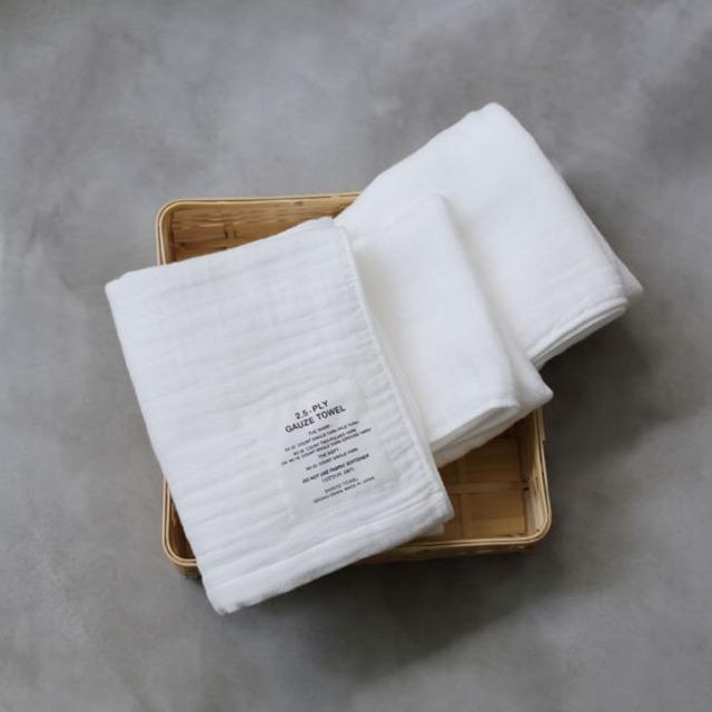 SHINTO TOWEL - 2.5重ガーゼ ホワイト/ハンディタオル