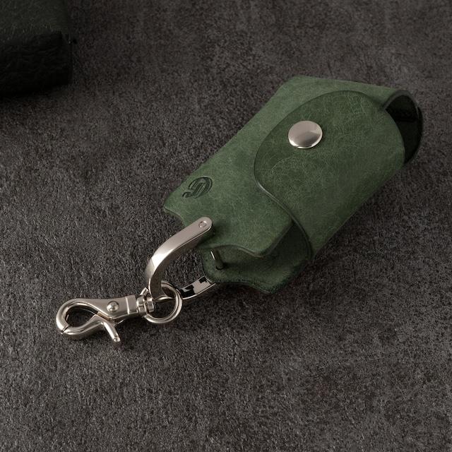 ホックキーケース スマートキー対応 | ギフト 革婚式 イタリアンレザー グレー