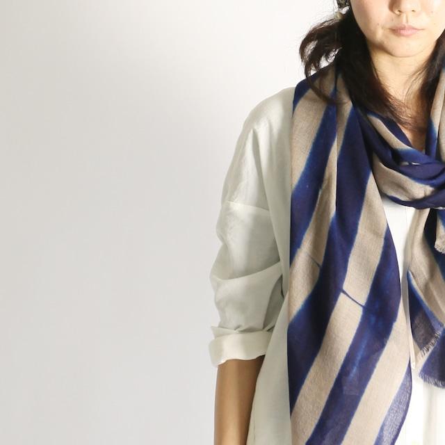 Hand Woven Baby Wool Sakaboushi Shibori Stripe ベビーウール ショール #2165[ suzusan ]