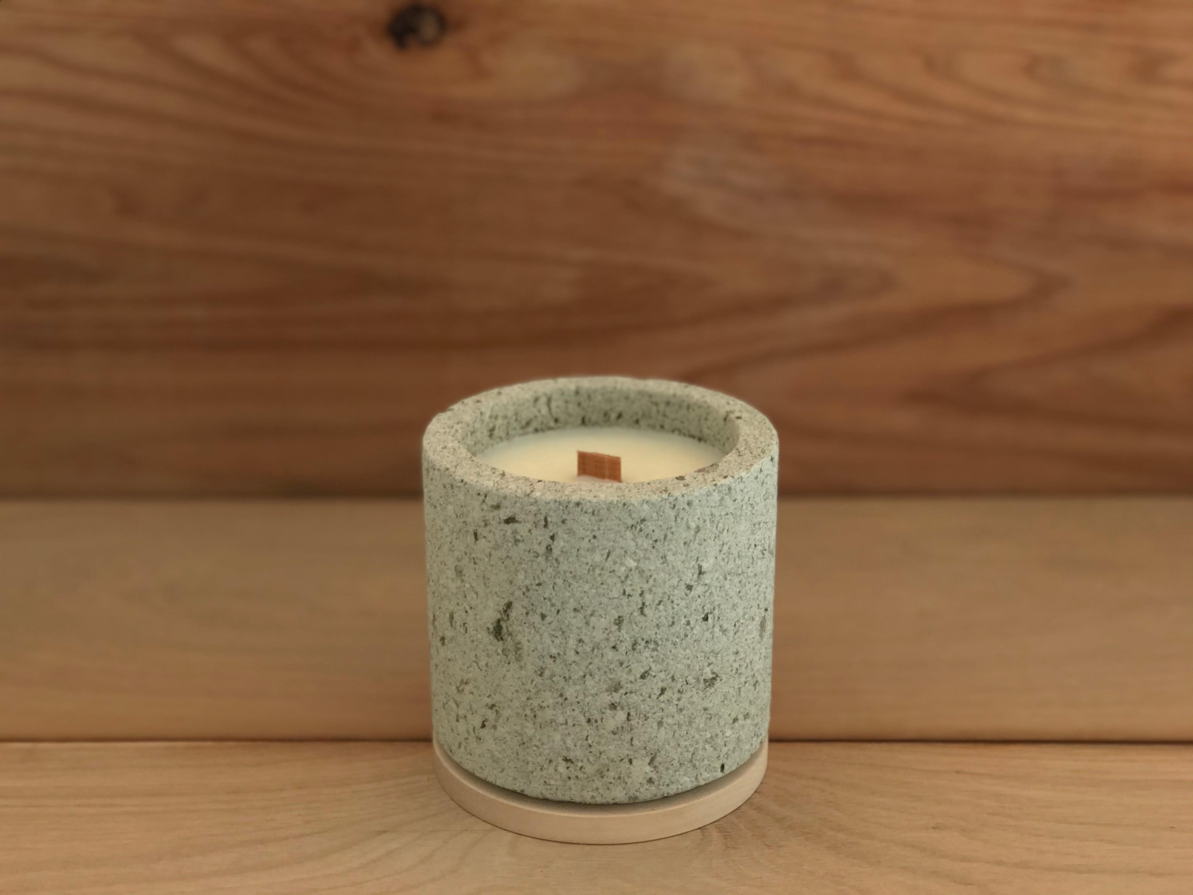 kaoru takibi (cylinder) 大谷石 キャンドル 9000