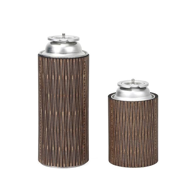 【CAMP GEAR】CB缶 ガスカートリッジカバー ウッドクラフト レトロスタイル【2type】GC-A0197