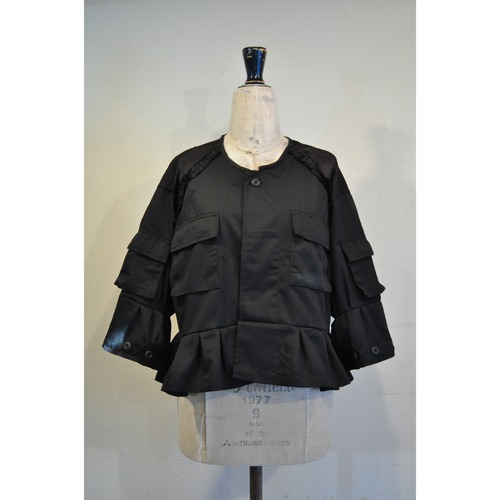 【RehersalL】BDU frill jacket(black) /【リハーズオール】ビーディーユーフリルジャケット(ブラック)