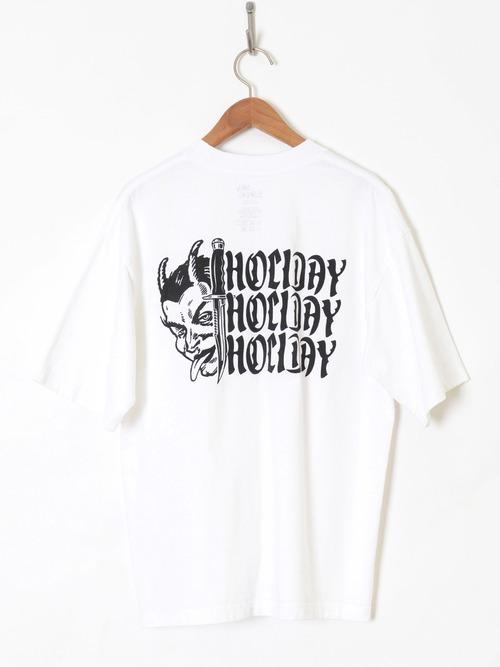 【HOLIDAY】SUPER FINE DRY POCKET T-SHIRT(SPELL3)