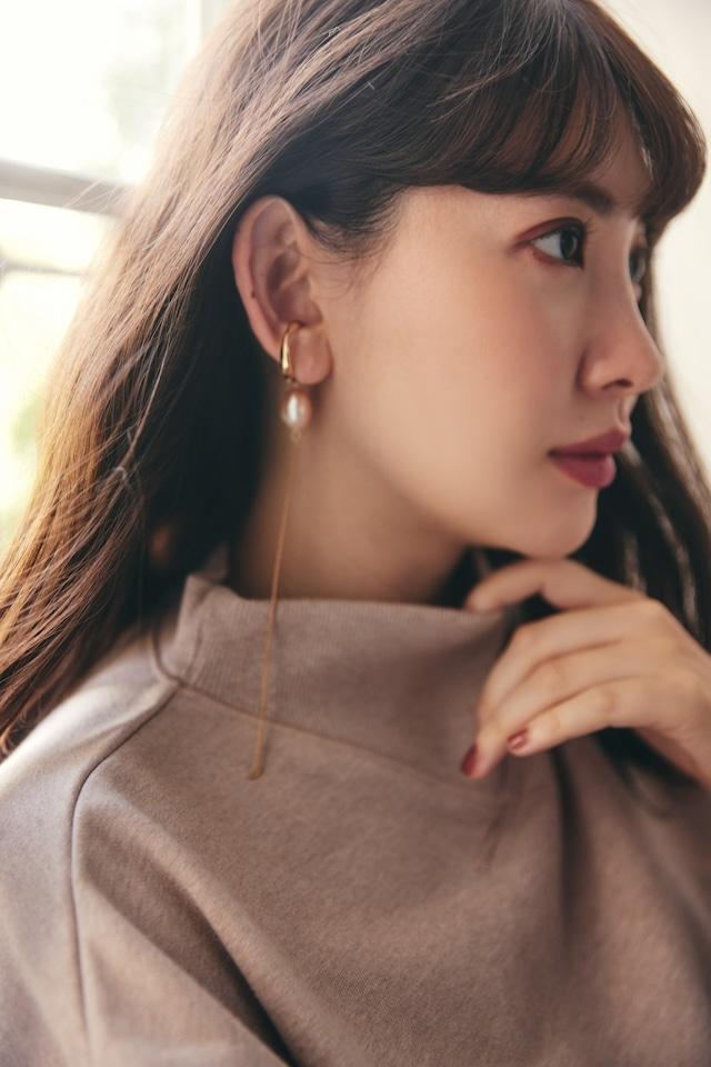Pink Pearl Ear Cuff