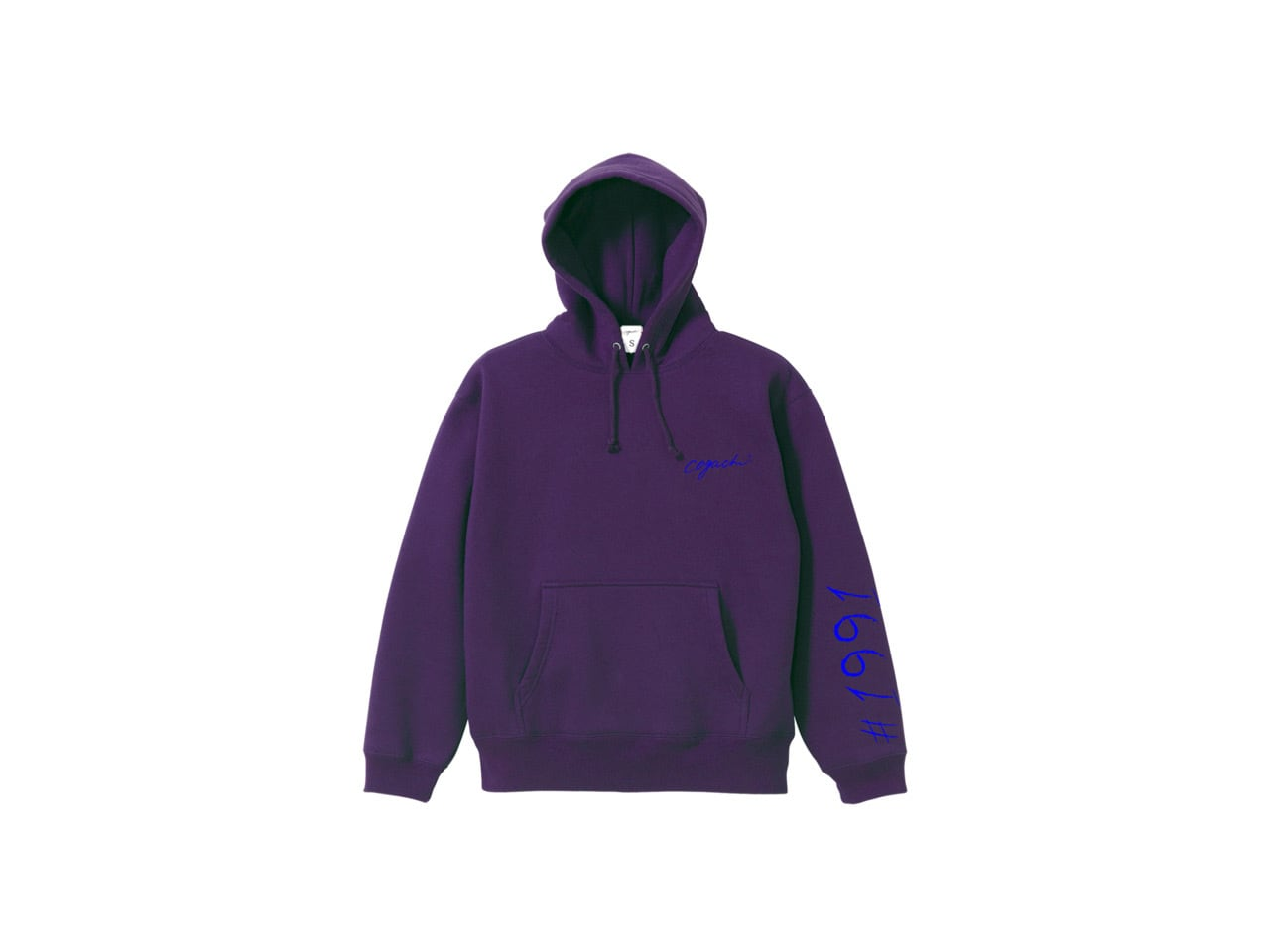 1991 pop color hoodie (PUR/BL)