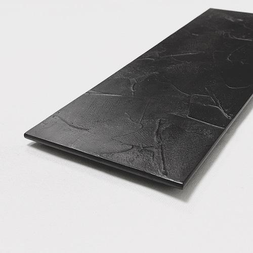 【FEEL J Style オリジナル】箆目(へらめ)黒塗 長手皿