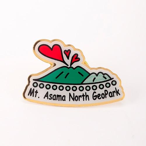 【浅間山北麓ジオパーク】ジオパークピンバッジ