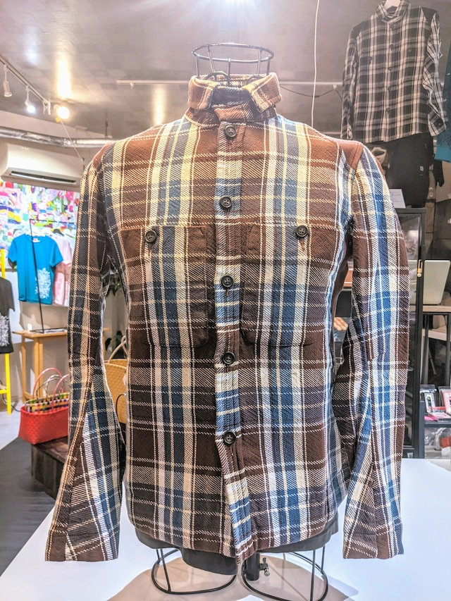 チェックシャツジャケットブラウン [JS-EA01]
