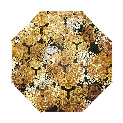 家紋装飾ゴールド 折りたたみ日傘