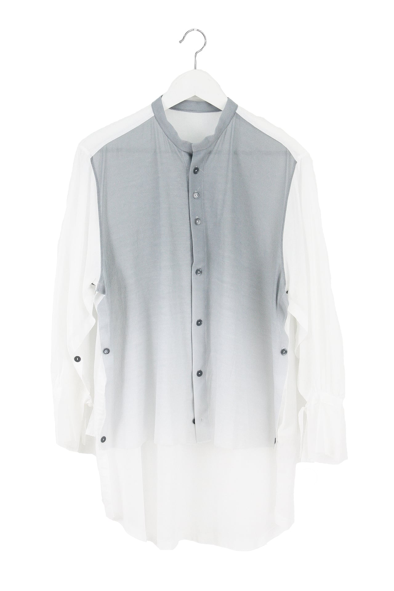 GRADATION  SHIRT/STOLE【COTTON コットン】 グラデーションシャツストール[登録意匠]SILVER GRAY 2302  [税/送料込み][受注生産]