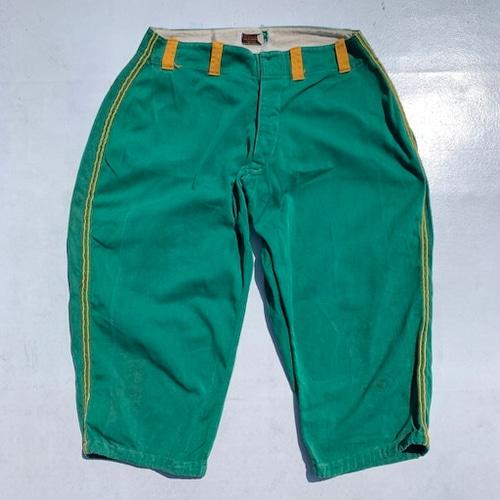40's Wilson ウィルソン コットンベースボールパンツ 黒タグ グリーン 緑 イエロー 黄 W34 7分丈 USA製 希少 ヴィンテージ BA-991 RM1360H