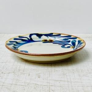 【波佐見焼】【藍染窯】【藍ブルー】【小皿】 波佐見焼 やちむん風 取り皿 和風 おしゃれ 大人 民芸