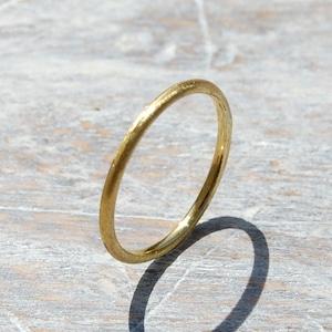 ブラスプレーンリング 1.5mm幅 マット 3号~27号|WKS PLANE RING 1.5 bs matte|BRASS 真鍮 指輪 FA-139