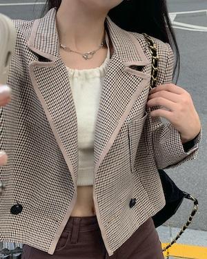pattern short jacket