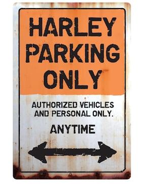 【送料無料】HARLEY Parking Onlyサインボード  パーキングオンリー ヴィンテージ風 サインプレート アメリカ看板 ハーレーダビットソン ガレージサイン アメリカ雑貨 アメリカン雑貨 壁飾り ウォールデコレーション 壁面装飾 おしゃれ インテリア 雑貨