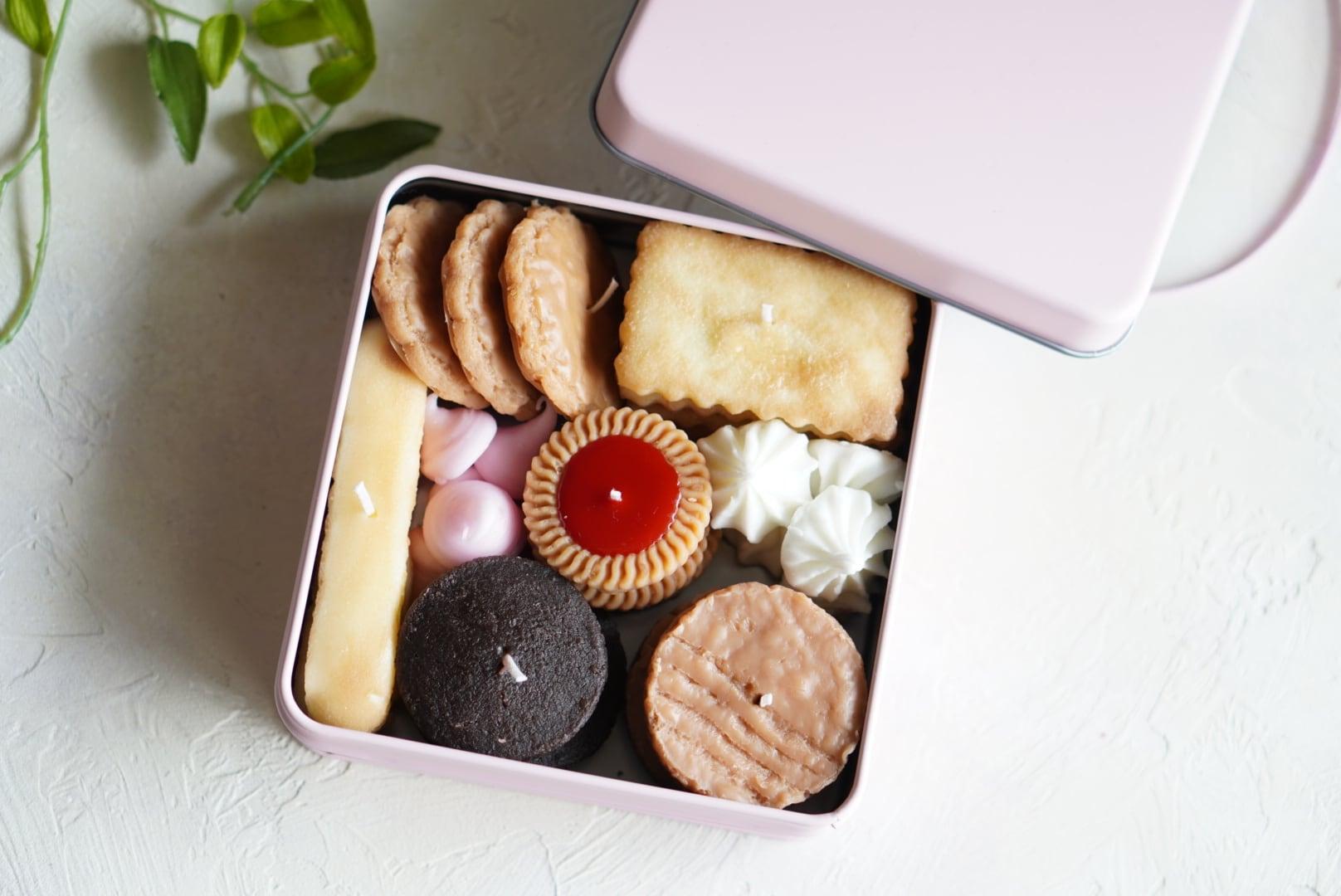 クッキー缶のキャンドル