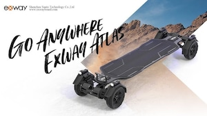 EXWAY ATLAS 2WD 完全オフロード電動スケートボード登場!