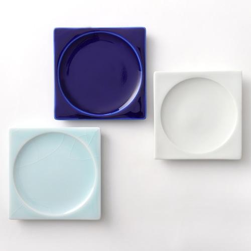 豆皿(瑠璃釉、白釉、青白釉)