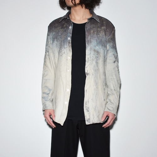 Leather Spiral Shirt 〈Stone mixture〉