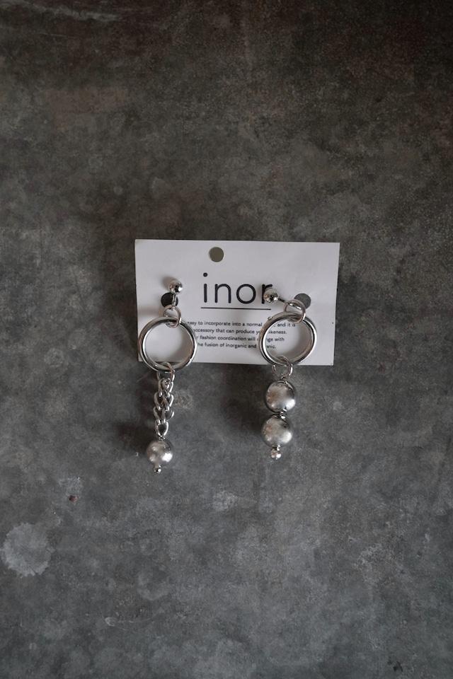 inor    asymmetry  earring/pierce