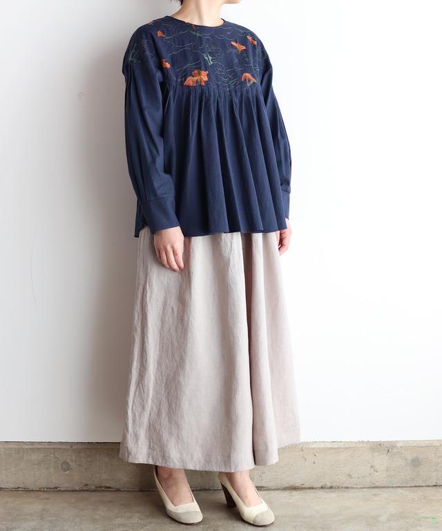 ナスタチュウム刺繍プルオーバー(mua908)