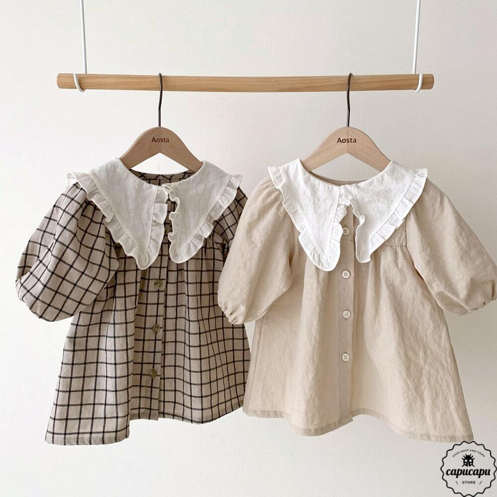 «sold out» bask collar one-piece 2colors バスク襟 ワンピース