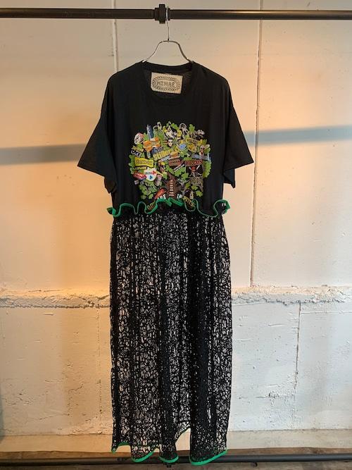 MIMAE lace remake big onepiece (GREEN)
