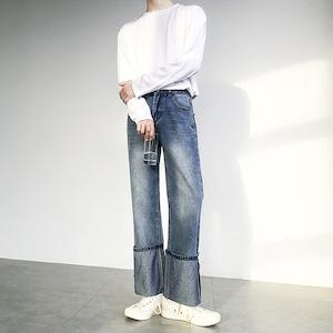 Roll-up regular jeans   b-409