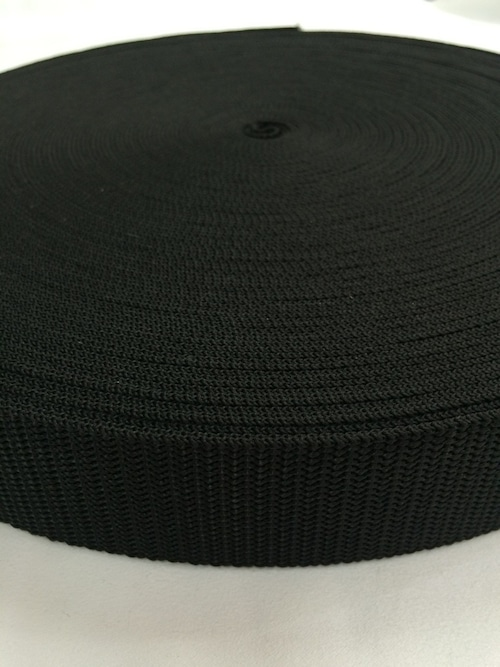 抗菌テープ PP(ポリプロピレン) 25㎜幅 黒 1.2mm厚 10m単位