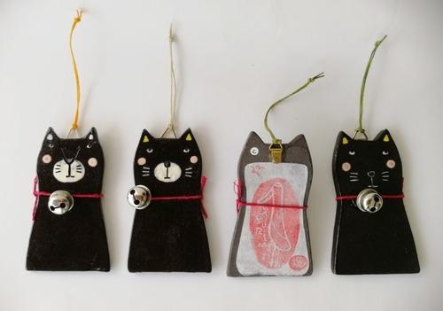 「鈴 黒猫おまもり~鶴林寺~」 ちちんぷい工房