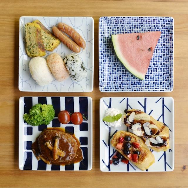 【波佐見焼】【natural69】【SWATCH】【正角皿】 スクウェアプレート パン皿 食器 北欧 おしゃれ